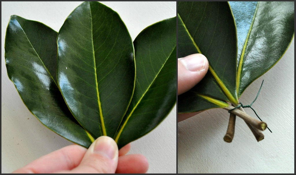 sophias how to make a garland with magnolia leaves