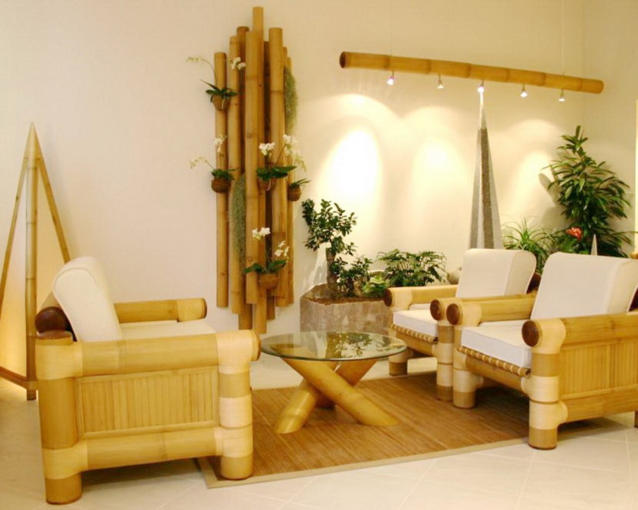 bamboo living room decoration interior design ideas