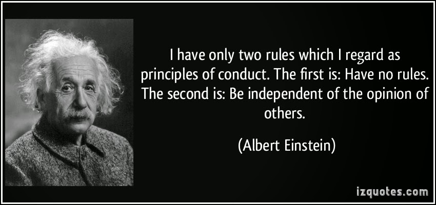 Image Quotes of Albert Eintein on Code of Conduct and Rules