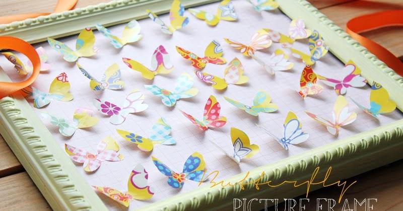 Twenty second of may mini diy schmetterlinge im - Schmetterlinge an der wand ...