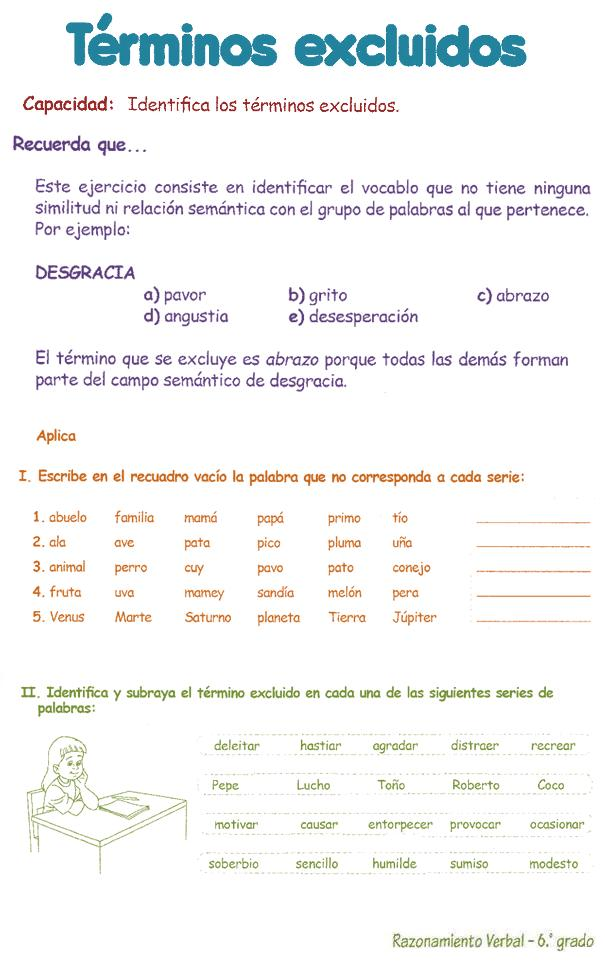 http://razonamiento-verbal1.blogspot.com/2013/03/termino-excluido-para-ninos-6.html