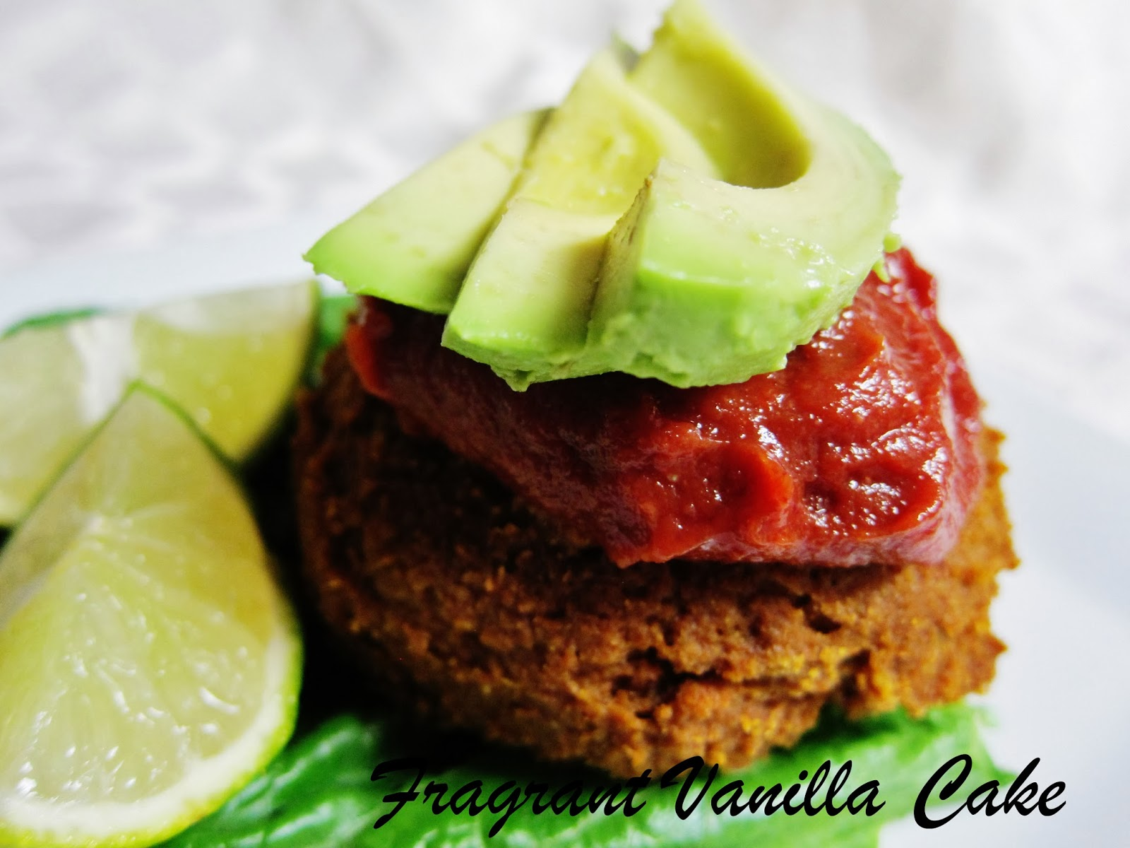 Raw Chili Squash Lentil Burgers with Cranberry Chipotle Ketchup