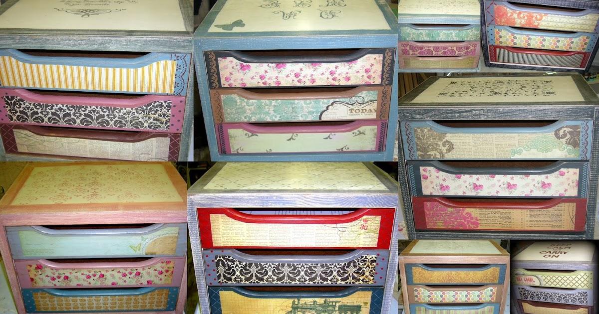 Las casitas de papel fotos cajoneras decoradas - Cajoneras decoradas ...
