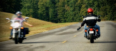 The biker wave