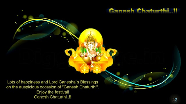 """Lots of happiness and Lord Ganesha`s Blessings on the auspicious occasion of """"Ganesh Chaturthi"""". Enjoy the festival! Ganesh Chaturthi..!!"""