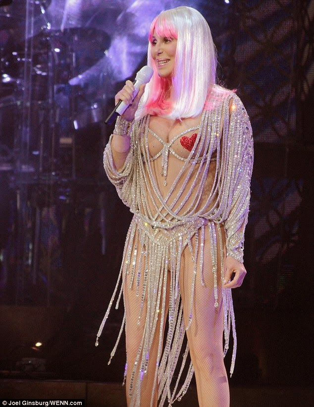 Cher singing 'Believe' on her 'Dressed To Kill Tour'