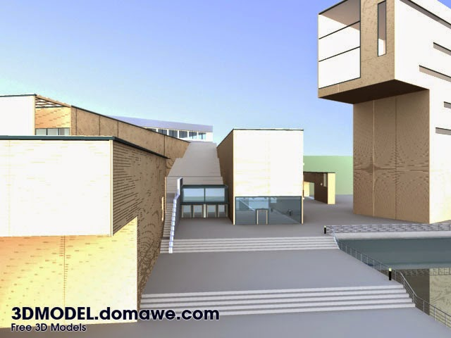 Architecture exterior design 3d model free for Exterior design software free download