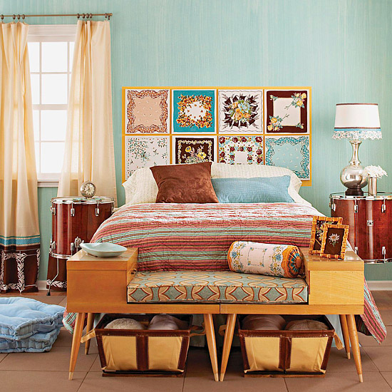 Decorando mesas de luz originales for Retro style bedroom