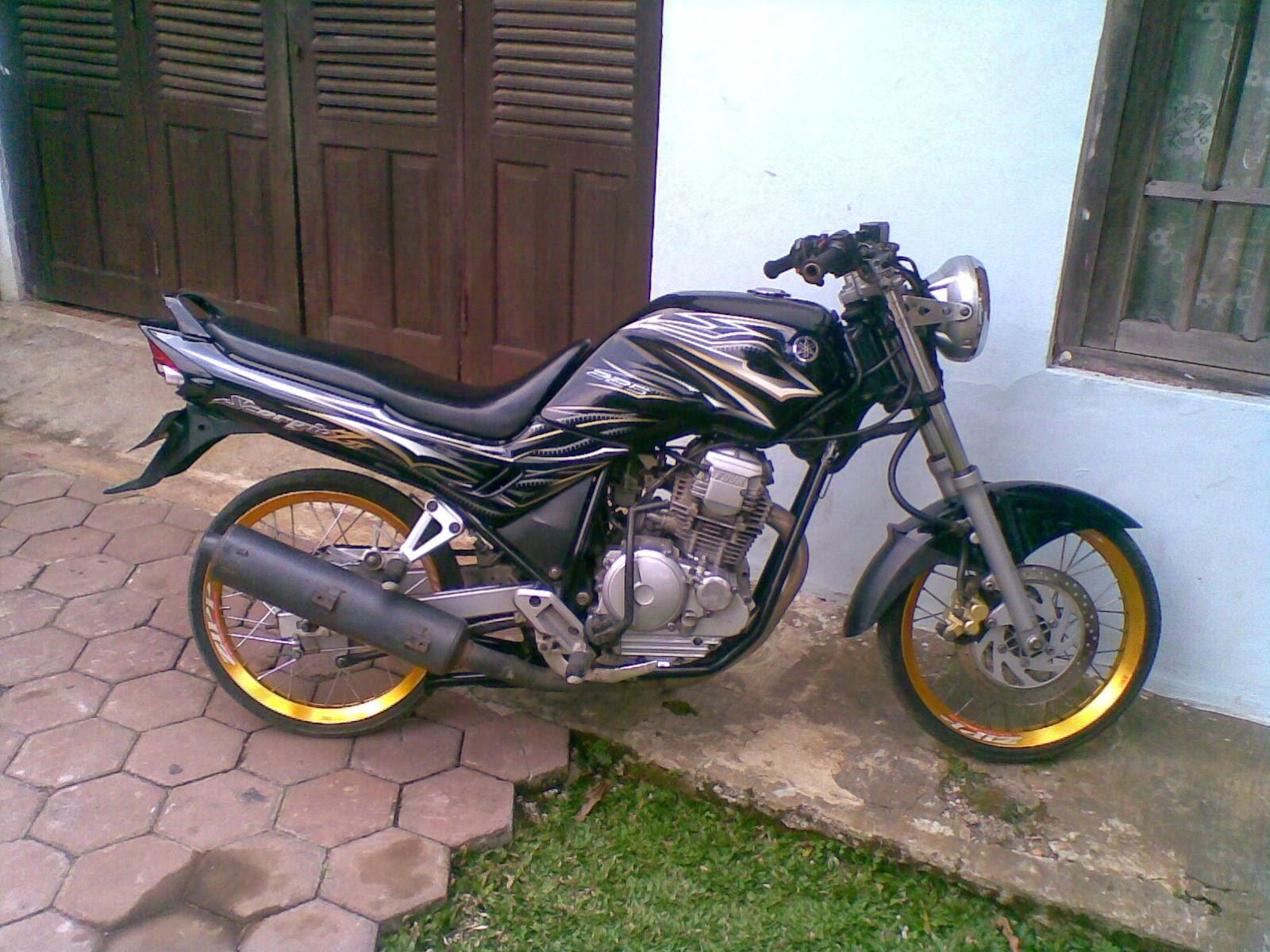 modifikasi motor yahama scorpio drag