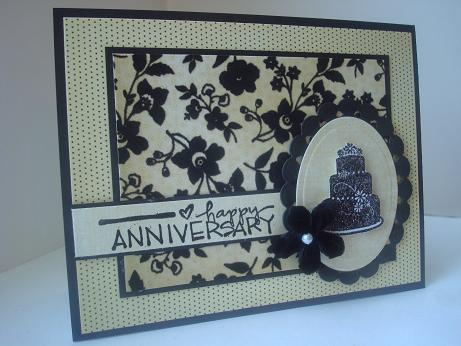 Amy s creative pursuits flocked anniversary cards
