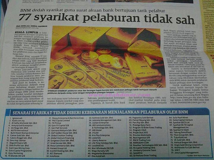 Forex yang sah di malaysia
