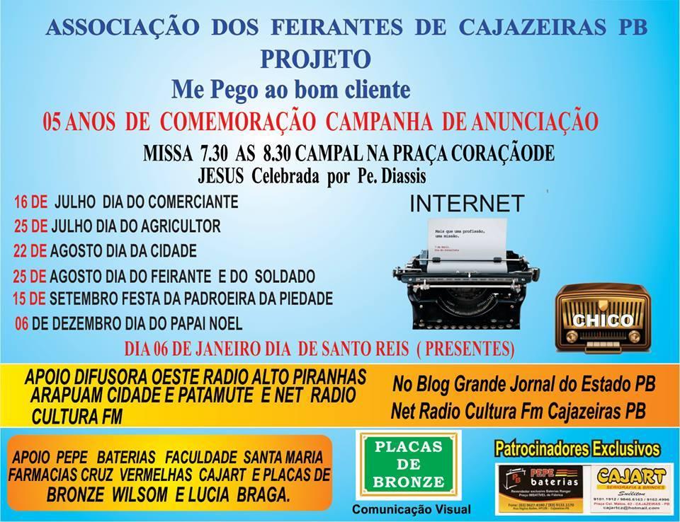 SEMPRE  NOSSAS CAMPANHAS  PARCERIA  NET  RÁDIO CULTURA FM CAJAZEIRAS PB  CEM POR CENTO VIRTUAL