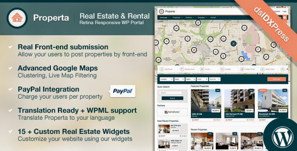 Download ThemeForest Properta - Real Estate WordPress Theme for free.
