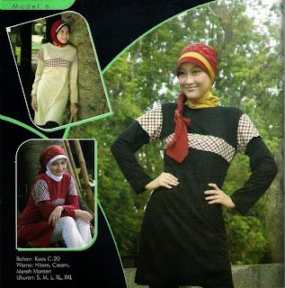 Mazaya Busana Muslim Hitam Krem Merah maroon