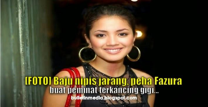 (Foto) Baju Nipis Jarang, Peha Fazura Buat Peminat Terkancing Gigi...