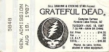 Grateful Dead Compton Terrice Firebird Lake-Tempe AZ. 8-18-1987