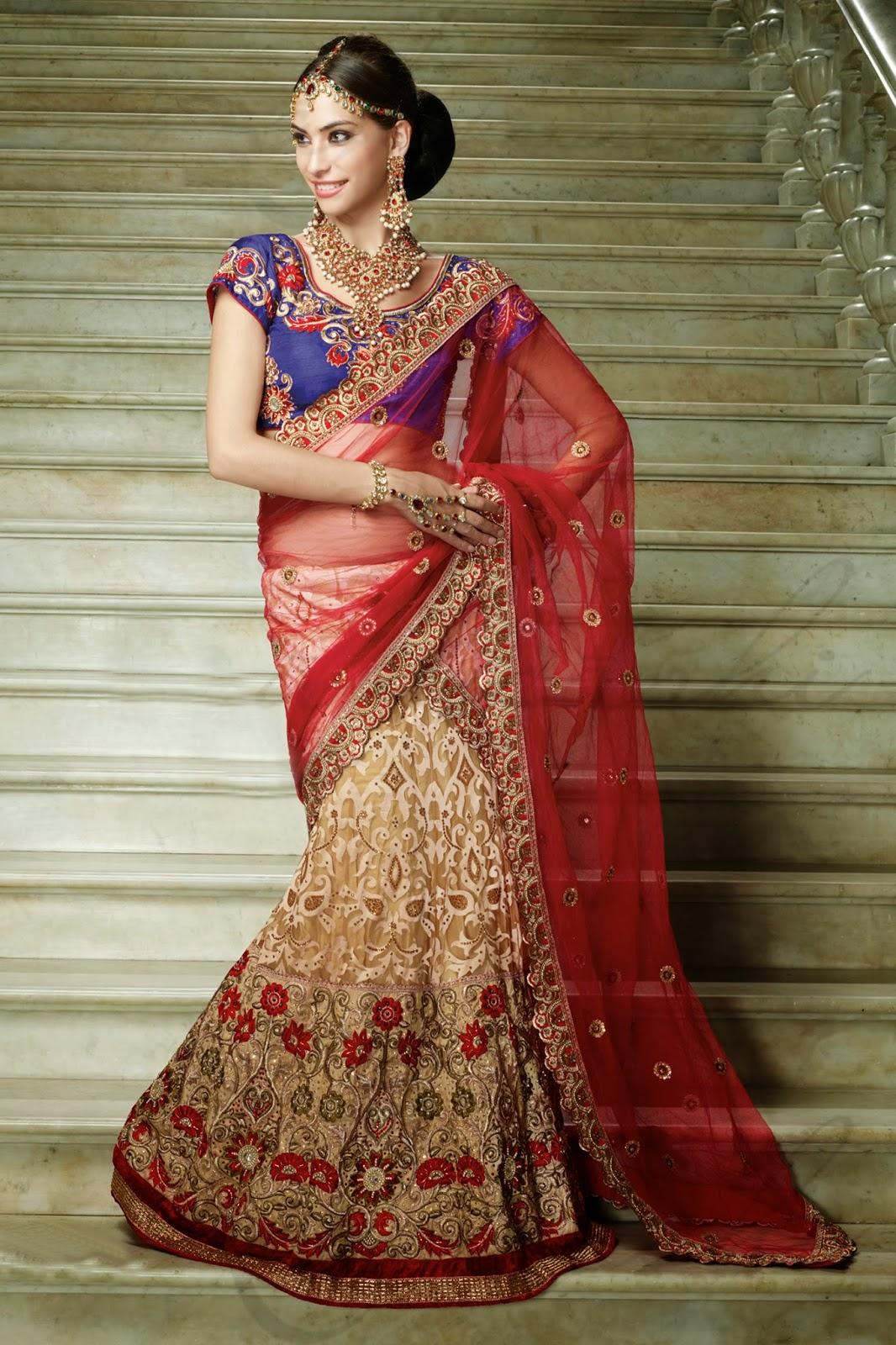 Bridal Lehenga for Wedding: Perfect Wedding Outfits for Ladies-Lehenga Style Saree