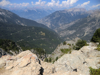 View towards Les Ecrins from La Mourière