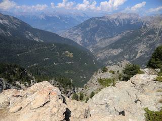 View towards Les Ecrins from La Mourière