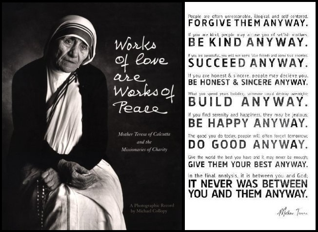 Do It Any Way Mother Teresa Quotes. PlusQuotes