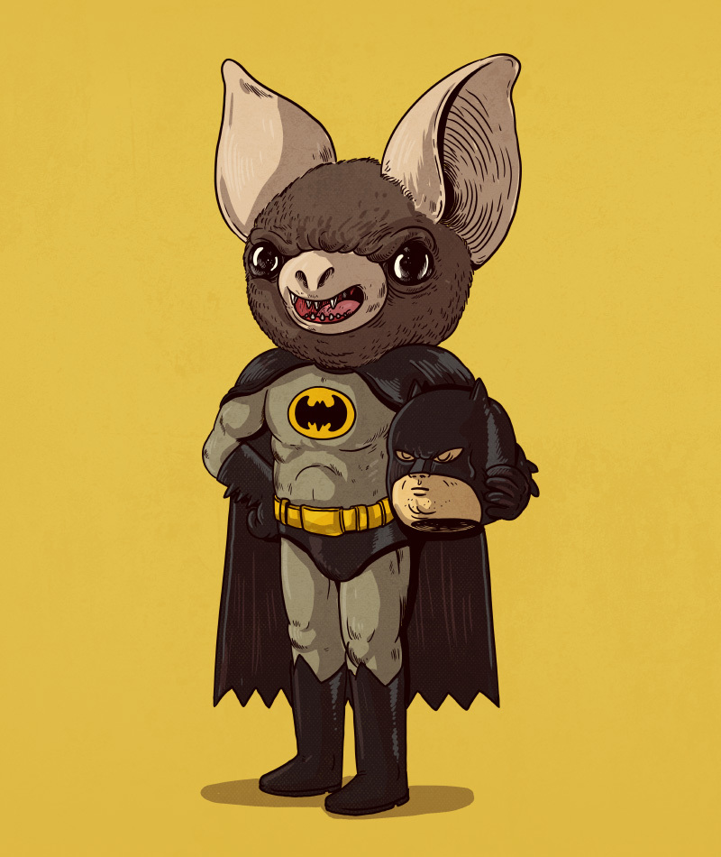 23-Batman-and-the-Bat-Alex-Solis-Illustrations-of-Icons-Unmasked-www-designstack-co