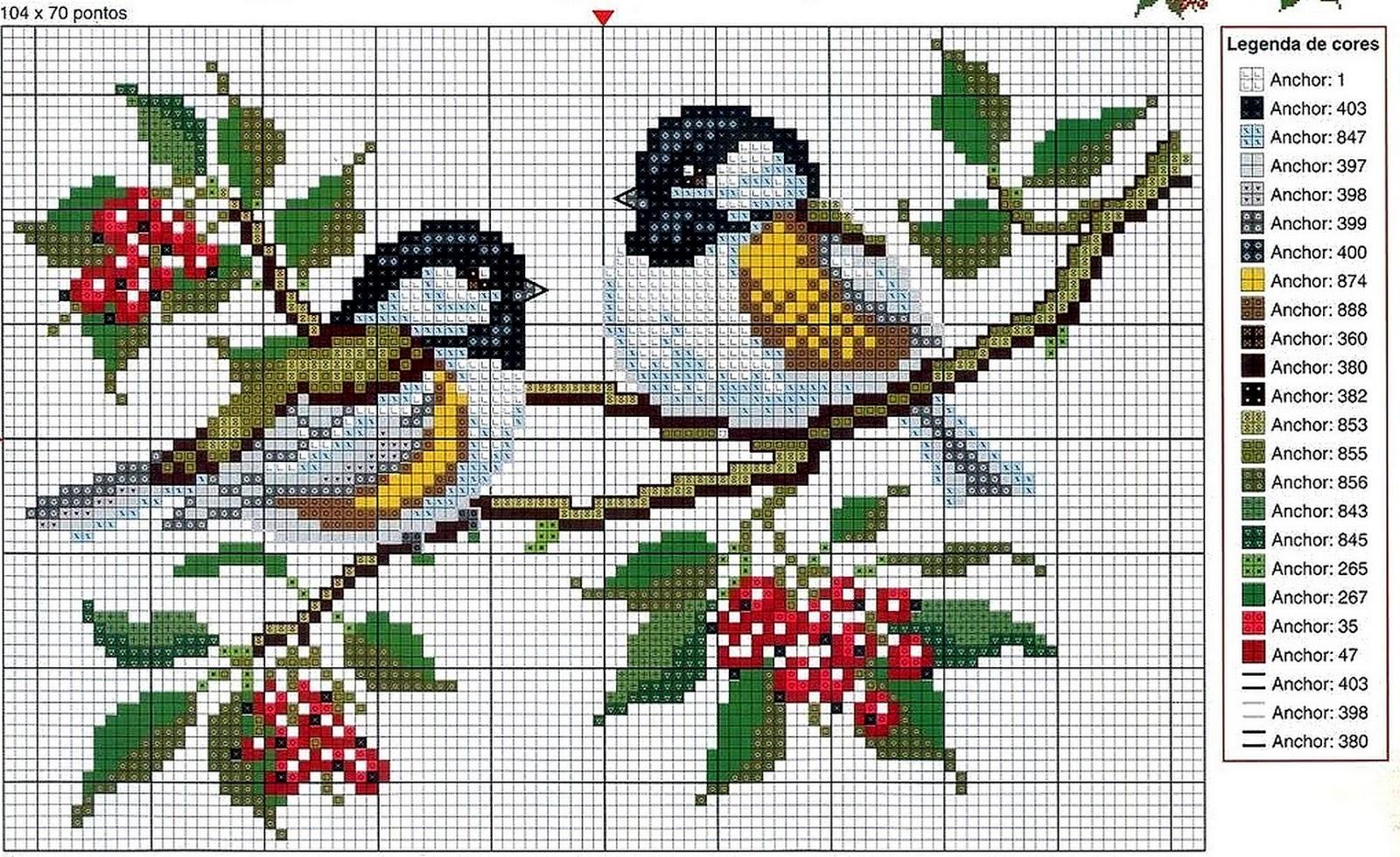 Grande raccolta di schemi e grafici per punto croce free for Schemi punto croce animali gratis