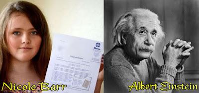 Nicole Barr dan  Albert Einstein