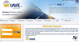 iave.mx trajeta de prepago para autopistas de cuota en mexico