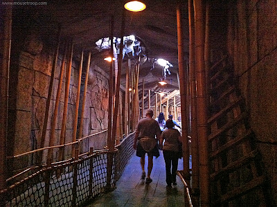 Indiana Jones Adventure Disneyland Temple exit path poles