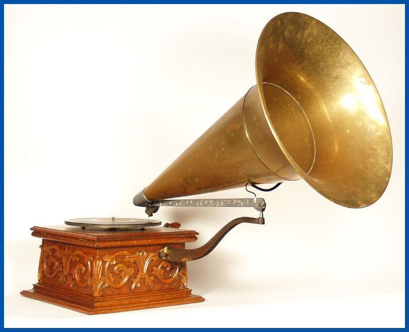 Talk-o-phone Phonograph Traveling Arm Horn Cradle