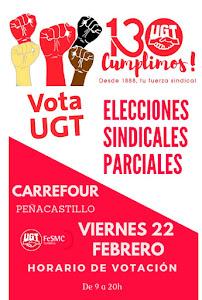 ELECCIONES SINDICALES PARCIALES EN CARREFOUR PEÑACASTILLO . VIERNES 22 DE FEBRERO