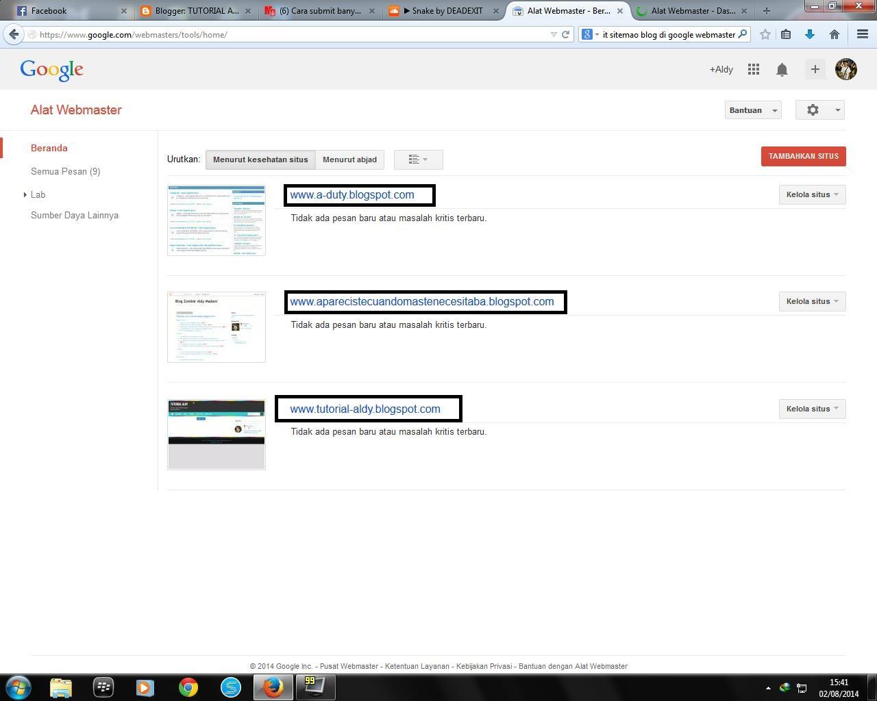 Cara Mensubmit Banyak Sitemap Blog Ke Google Webmaster Tools