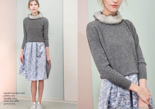Sweaters tejidos invierno 2015 Las Pepas.