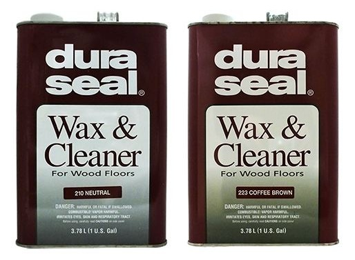 DuraSeal wax and cleaner comes in neutral and coffee brown colors.