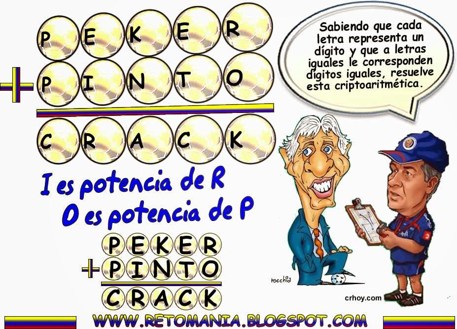 Criptoaritmética, Alfamética, Problemas matemáticos, Problemas de ingenio, Problemas de Lógica, Desafíos matemáticos