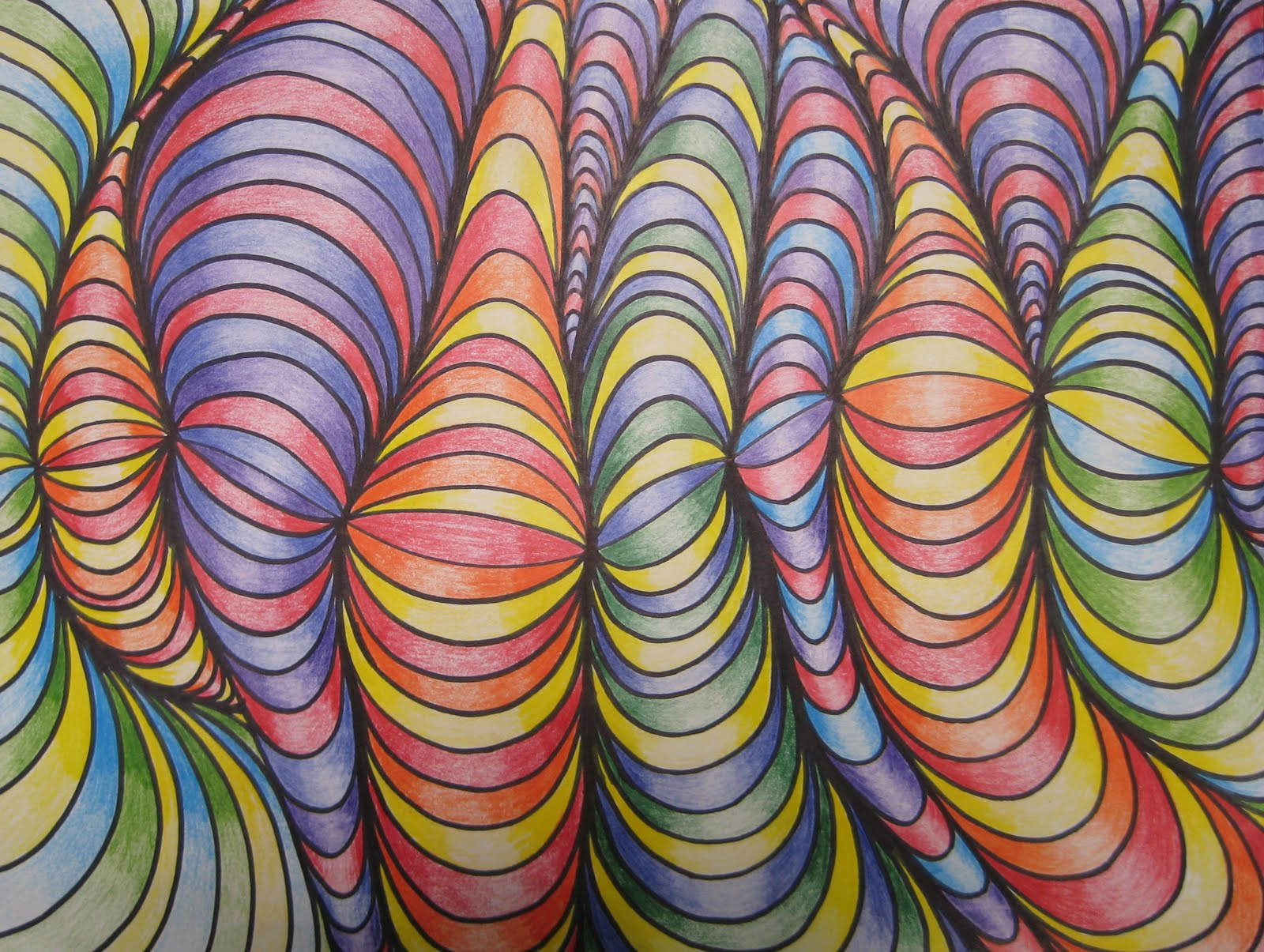 Color Line Design : Line designs with shading teachkidsart