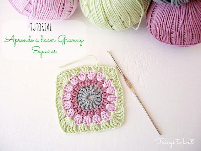 El blog de dmc tutorial para hacer granny squares - Aplicaciones de crochet para colchas ...