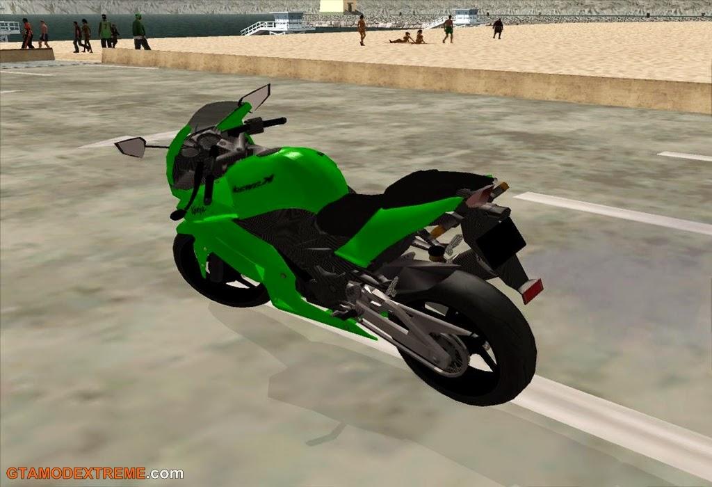 Baixar moto Kawasaki Ninja 250R 2009 Para GTA San Andreas