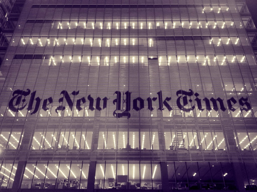 The New York Times is a-chagning