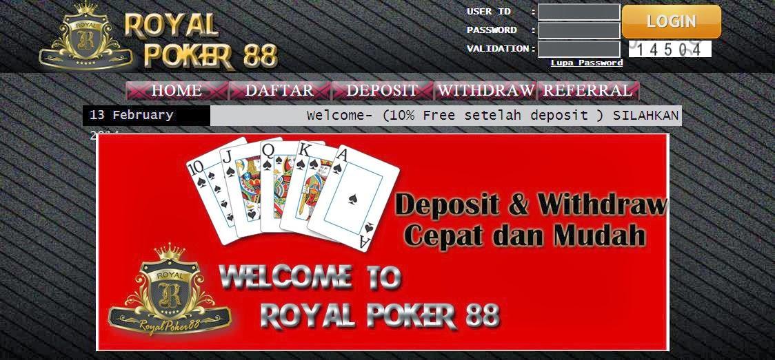 Daftar Poker online uang asli royalpoker88