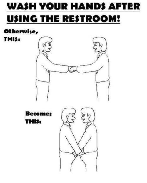 Wash Your Hands Restroom Sign