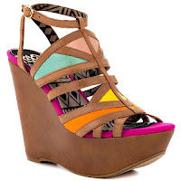 Multi - colored sandals