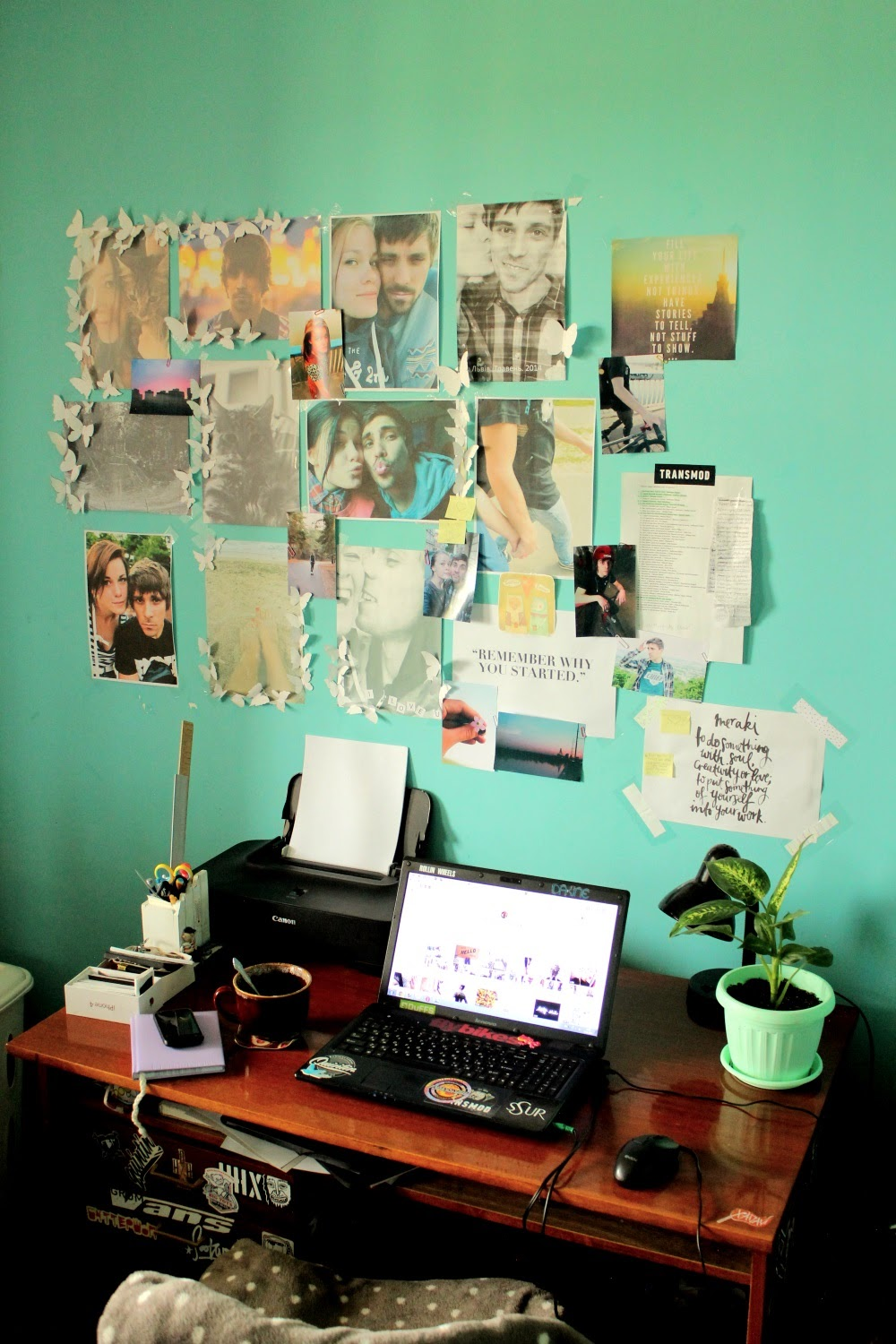 My personal work place and inspiration board