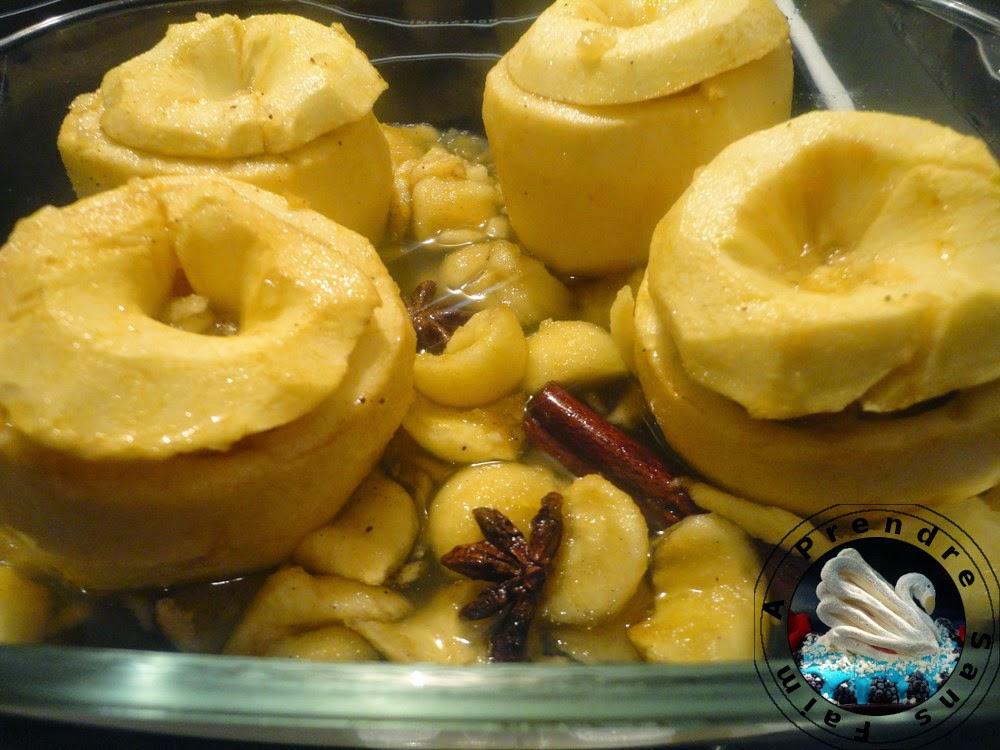 Pommes au four aux abricots secs