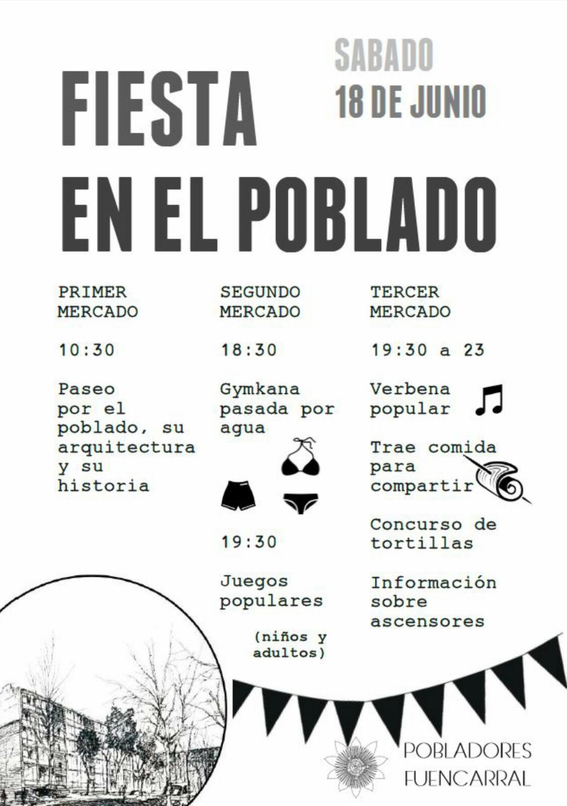 18 junio Fiesta en Poblado Fuencarral