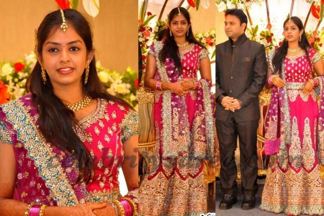 Jyothi Krishna Wife Reception Saree Saree Blouse Patterns