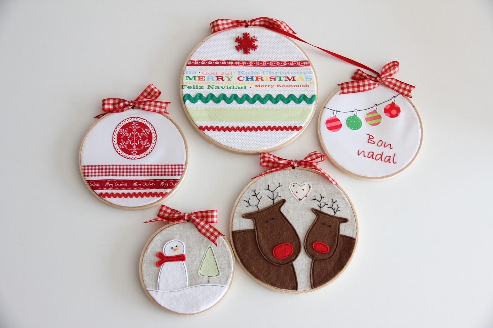 Mi hogar de patchwork bastidores para decorar la navidad - Adornos navidenos en ingles ...