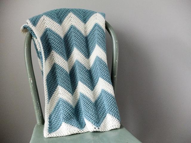 Chevron Crochet Baby Blanket Dear Edna