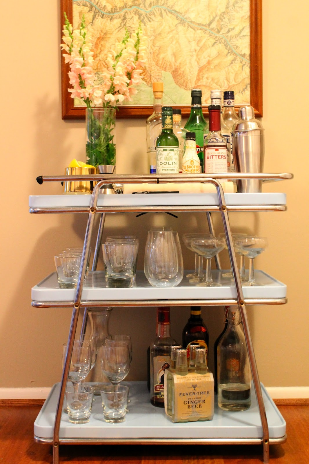 Elements of Katie : Styling a Bar Cart