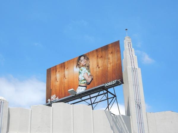 MeUndies female underwear model billboard